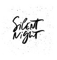 silent night holiday lettering vector image