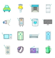 Smart home system icons set cartoon style vector image vector image