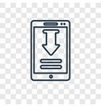 smartphone and download arrow concept linear icon vector image