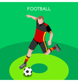 Soccer 2016 Summer Games Isometric 3D vector image