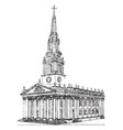 st martins-in-the-fields an english anglican vector image vector image