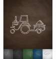 tractor with trailer icon vector image vector image