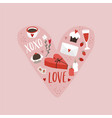 valentines day or wedding greeting card party vector image