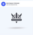 viking helmet icon filled flat sign solid vector image vector image