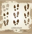 vintage grunge footsteps poster design vector image vector image