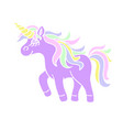 walking unicorn icon on the white background vector image vector image