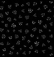 white chaotic dots on black seamless pattern vector image vector image