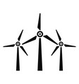 wind energy icon simple style vector image vector image