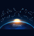zodiac design concept astrology sings around the vector image