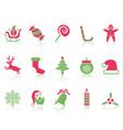simple Christmas icons set vector image