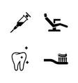 dentist simple related icons vector image