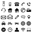 Contact icon collection for business vector image