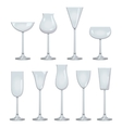 Types of Wine and Glasses Description Set of types vector image