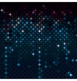 Abstract mosaic in dark neon blue colors vector image vector image