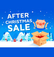 after christmas sale discount poster vector image vector image
