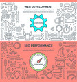 Banners for web development and performance
