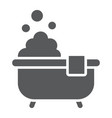 bath glyph icon real estate and home shower sign vector image vector image