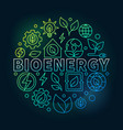 bioenergy round colorful vector image vector image