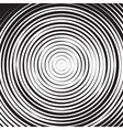 black and white concentric line circle background vector image