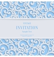 Blue 3d Vintage Christmas or Invitation vector image
