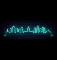 blue neon skyline buenos aires bright buenos vector image vector image