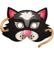cat mask carnival and masquerade accessories vector image vector image