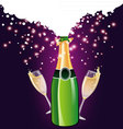 Champagne back vector image vector image