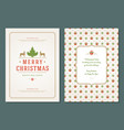christmas greeting card design template vector image vector image