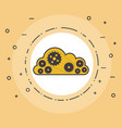 cloud computing with gears vector image