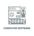 computer software line icon computer vector image vector image