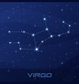 constellation virgo astrological sign vector image