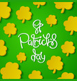 creative st patricks day background vector image vector image