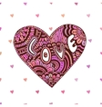 Creative zentangle heart with text Love vector image
