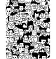 crowd faces vector image