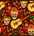 day of the dead seamless pattern vector image vector image