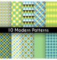 Different modern seamless patterns vector image