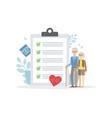 elderly insurance healthcare medicine and vector image