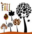 fall trees and leaves vector image vector image