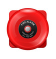 fire alarm red bell siren emergency evacuation vector image vector image