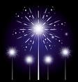fireworks celebration scene background vector image vector image