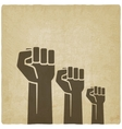 fist independence symbol old background vector image vector image