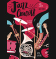 flyer or invitation template for jazz music vector image