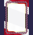 frame and border of ribbon with thailand flag vector image vector image