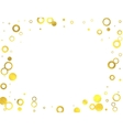 Gold glittering foil circles on white background vector image
