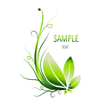 Green leaves abstract background vector image vector image
