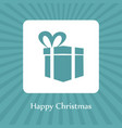 happy christmas card with gift box vector image vector image