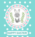 happy easter greeting card flyer poster with vector image