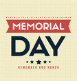 happy memorial day gretting card vector image vector image