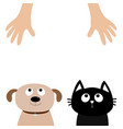 helping hand dog cat pet adoption puppy pooch vector image vector image