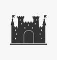 icon castle silhouette vector image vector image